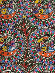 Buy Tree of Life with Peacock Madhubani Painting (30in x 22in) Online at Jaypore.com Madhubani Paintings Peacock, Madhubani Art, Indian Artwork, Indian Folk Art, African Art Paintings, Nature Paintings, Tribal Background, Tree Of Life Painting, Traditional Paintings