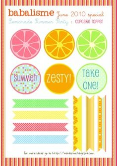 Lemonade Stand printables -free