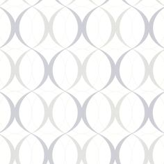 Wallpaper by The Yard 347 67352 ORB Geometric Trellis Silver White Wallpaper | eBay