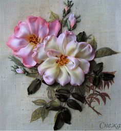silk ribbon embroidery | ... step instructions on how to do silk ribbon embroidery on Di's website