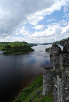 Kilchurn Castle, looking down Loch Awe