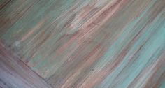 teal layered chippy paint finish
