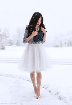 DIY skirt (tutorial below), or if you prefer to buy, this one is very similar & affordable Tulle isn't too practical for my everyday wardrobe, but I do love how fanciful it looks for special occasions
