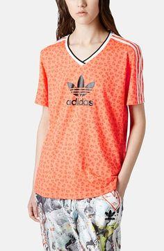 Topshop x adidas Originals Football Tee available at #Nordstrom