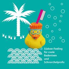 """my toothie duck """"Taucher-Ente""""  Südsee-Feeling für coole Badenixen und Schnorchelprofis  #Geschenkidee #Bad #Badezimmer #bathroom"""
