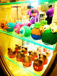 Disney candy apples-The Mike Wazowski one is the one I am waiting for!!!