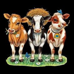 Cow design available on t-shirts, sweatshirts, aprons, cushions, car sunscreens and bags Cow Pictures, Pictures To Paint, Farm Animals, Cute Animals, Cow Illustration, Sweet Cow, Cartoon Cow, Cow Painting, Cute Cows