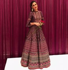 """12.8k Likes, 73 Comments - Anita Dongre (@anitadongre) on Instagram: """"Blooming beauty @nargisfakhri in #EpicLove by #AnitaDongre for #Diwali celebrations. Styled by…"""""""