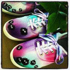 Soot Sprite Shoes studio ghibli totoro miyazaki by pearl808