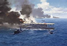 Part I. Midway (Jun. 4, 1942) Four Japanese carriers - the Akagi, Kaga, Soryu, Hiryu - were destroyed, and a cruiser. All 250 aircraft of the four carriers were lost, as were many of the pilots, air crewmen, and skilled mechanics. It was a decisive defeat for the Imperial Japanese Navy.