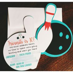 Bowling invitation bowling party bowling party by FalcoClan
