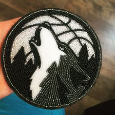 "60 Likes, 3 Comments - Lonnie Bellanger (@bell23) on Instagram: ""#beaded #beadwork #beadedrope #beadedmedallion #minnesota #minnesotatimberwolves"""