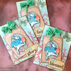 The Artful Maven Haven: Easter Blessing Cards using Tim Holtz, Ranger, Idea-ology, Sizzix and Stamper's Anonymous products; Apr 2015