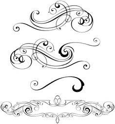 word clip art wedding embellishments | Scroll Designs Royalty Free Stock Vector Art Illustration