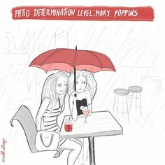 Patio determination level: Mary poppins by  Scarlet_alterego for of red and other colors https://ofredandothercolors.wordpress.com/ Character design, webcomic, cartoon, girl character, self, diary comic strip, cartoon, funny, illustration, ofredandothercolors, scarlet_alterego, of red and other colors