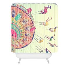 Shannon Clark Dizzying Heights Shower Curtain | DENY Designs Home Accessories