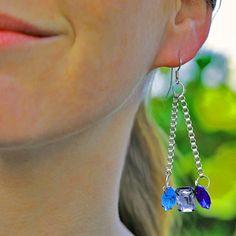 Pin for Later: 43 coole, super-stylische Geschenke zum Selberbasteln Kristall-Ohrringe