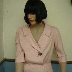 Vintage 1960s Pink Shirtdress size 14 by javals on Etsy, $36.00   Rock that button!