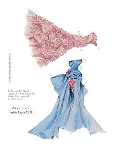 Miss Missy Paper Dolls: Robert Best Barbie Paper Doll 5 pages 3