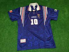 Vintage Zinedine Zidane France Euro Cup 1996 Adidas by LosHinchas Vintage  Jerseys be6b036c9
