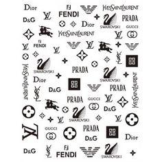 Diy Nails Stickers, Nail Decals, Gold Nails, Us Nails, Logo Luxe, Nagel Stamping, Dior Nails, Nail Stamping Plates, Nail Patterns