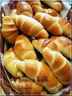 Hungarian Cuisine, Hungarian Recipes, Sweet Pastries, Bread And Pastries, Bread Recipes, Cake Recipes, Cooking Recipes, Savory Pastry, Salty Snacks