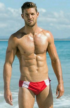 Male Pinup, Guys In Speedos, Hommes Sexy, Raining Men, Athletic Men, Shirtless Men, Male Physique, Muscle Men, Sexy Body