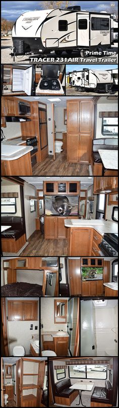 The PRIME TIME TRACER 231AIR travel trailer is an ultimate easy-tow ultra-lite trailer designed to be towed by many of today's cross-over and mid-sized SUVs. In this trailer you have the choice to cook inside or outside. The outdoor kitchen has a two burner cook-top, refrigerator and a sink.