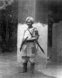 Rudolf Carl von Slatin (Slatin Pasha), dresse in native costume, governor of Dara Sudan, held captive by the Mahdists for 11 yrs, he eventually excaped and after a year's rest he took part, as an officer on the staff of the Egyptian army, in the campaigns of 1897-98 which ended in the capture of Omdurman.