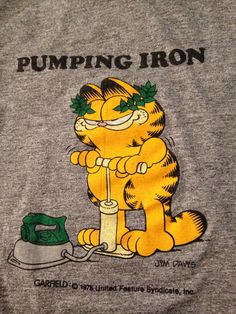 1978 Garfield T-shirt RARE XS tri-blend soft by twinflamesboutique