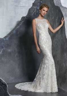 The Chic Technique Crystal Beaded Gown With Embroidered Liqués On Net Scalloped Hemline Ed Wedding