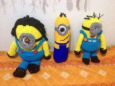 Los minions hecho con trapillo y lana