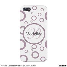 De moderne Cirkels van de Lavendel iPhone 5 Covers
