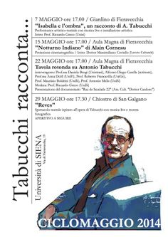 Tabucchi racconta... ciclomaggio 2014 (Unisi)