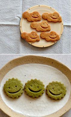 ばらうり菜種油のクッキー . ニコニコ抹茶