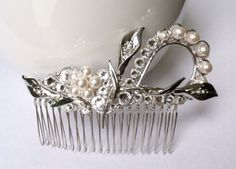 Swarovski Crystal Hair Comb Calla Lily Bridal by TheBlissfulLoft, $48.99