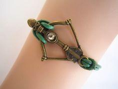 Disney Brave Inspired Merida Bow Bracelet Green by WearingPretty, $2.99