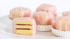 I can turn down a cupcake, biscotti or macaron, but never  a petit four. Why? Its a tiny cake, with wee little layers. . . who wouldnt go crazy for one!