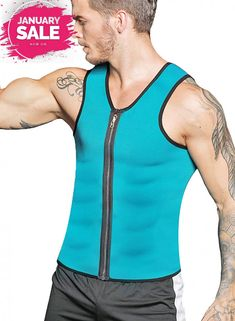 7dc2c6b3272 RIBIKA Waist trainer Vest Men Body Shaper Weight for Loss Sauna Sweats Suit.