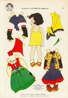 Children's Playmate paper doll * 1500 free paper dolls Christmas gifts artist Arielle Gabriels The International Paper Doll Society also free paper dolls The China Adventures of Arielle Gabriel *