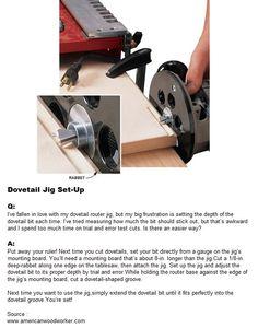 Dovetail Jig Set-Up