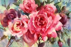 Trevor Waugh  Watercolour Roses