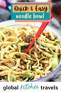 Lamb Noodle Bowl with Bok Choy is a quick and easy one pot noodle bowl done in just 20 minutes with ready to cook noodles Healthy Noodle Bowl    Asian Noodle Bowl    Noodle Stir Fry    20 minute Recipe    Easy Noodle Bowl #noodles #asianrecipes #noodlebowl #healthymeals #onepotmeal Asian Recipes, Healthy Recipes, Ethnic Recipes, Greek Recipes, Easy One Pot Meals, Quick Easy Meals, Asian Noodles, Stir Fry Noodles, Noodle Bowls
