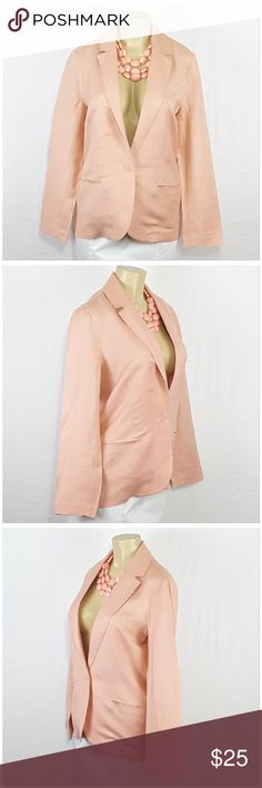"""XXI, FOREVER 21, Single Button Blazer, size Large XXI, FOREVER 21, Single Button Blazer, size Large See Measurements, slit pockets never opened, deep v-neckline, notched collar, light-weight warm silky soft stretchy fuzzy material, machine washable, 55% linen, 45% rayon,  approximate measurements: 27"""" length, 20"""" bust.  SAVE BIG! ADD TO A BUNDLE! 30%  AUTOMATICALLY DISCOUNTED ON ALL BUNDLES! Forever 21 Jackets & Coats Blazers"""