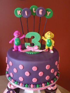 barney cakes | Barney Birthday Cake & Cupcakes