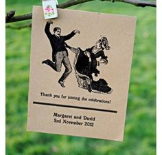 Dancing Victorian Couple Seed Packet Wedding Favour £1.85