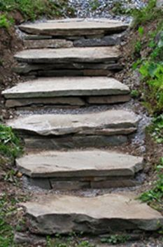 How to Build Stone Steps Into a Hill by cottagestylegardens #Landscape_Design #Stone_Steps