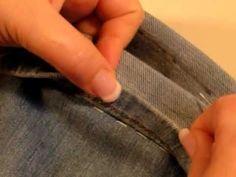 ▶ Accorciare i jeans con l'orlo originale - YouTube