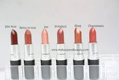 All MAC Lipsticks Photos and Swatches. There are around 40 more MAC lipsticks listed and reviewed in MAC Colorwise Lipstick Guide.