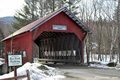 The Brookdale Bridge off of Route 108 in Stowe, Vermont.